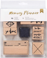 American Crafts - Memory Planner Mounted Stamps - Marble Crush
