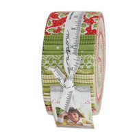 Moda Fabric Precuts Jelly Roll - Christmas Figs by Fig Tree Quilts