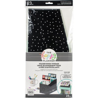 Happy Planner - Me and My Big Ideas - Sticker Book Storage Box - Black with White Dots