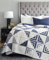 Sweet Escape Quilt Kit - Thimble Blossoms - Bonnie and Camille Wovens - Navy and Gray Wovens
