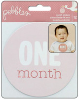 Pebbles - Lullaby Baby Girl - Monthly Stickers