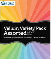 Paper Accents - Vellum - Rainbow Variety Pack