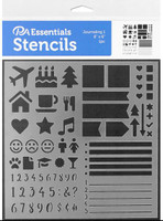 Paper Accents - Bullet Journaling Stencils - Icons, Checklist