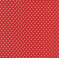 25cm Moda Fabric - Bread N Butter - by American Jane Patterns, Sandy Klop for Moda Fabrics - Red Polka Dot #21697-24