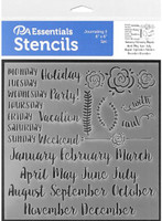 Paper Accents - Bullet Journaling Stencils - Days of the Week, Months