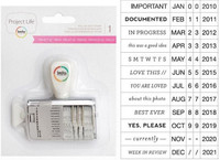 American Crafts - Project 52 Fresh - Roller Phrase & Date Stamp