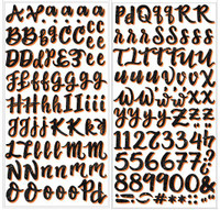 American Crafts - BOOtiful Night - Thickers Stickers - Alphabet/Glittered Foam