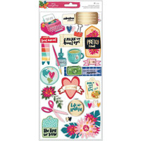 American Crafts - Amy Tangerine - Hustle & Heart - Layered Paper Stickers