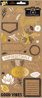American Crafts - Amy Tangerine - Shine On Stickers - Kraft
