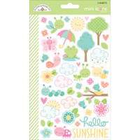 Doodlebug Designs - Mini Cardstock Stickers - Spring Things - Mini Icons