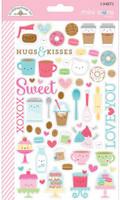 Doodlebug Designs - Mini Cardstock Stickers - Cream & Sugar - Mini Icons