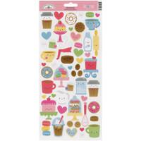 Doodlebug Designs - Cardstock Stickers - Cream & Sugar