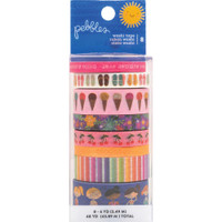 American Crafts - Pebbles - Sun & Fun - Washi Tape - Set of 8