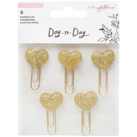 Maggie Holmes - Day-To-Day Planner Paper Clips - Hearts - Set of 5