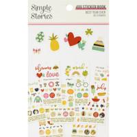 Carpe Diem - Simple Stories - Mini Sticker Book - Best Year Ever