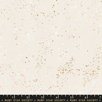 Moda Fabric - Ruby Star Society - Speckled Metallic White Gold #RS502714M