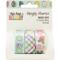Carpe Diem - Simple Stories -  Hip Hop Hooray Washi Tape - Set of 3