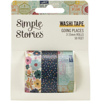 Carpe Diem - Simple Stories -  Going Places Washi Tape - Set of 3