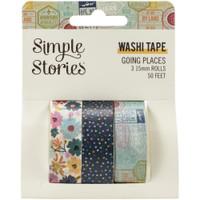 Carpe Diem - Simple Stories -  Going Places Washi Tape - Set of 3
