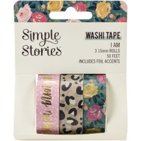 Carpe Diem - Simple Stories - I Am Washi Tape - Set of 3