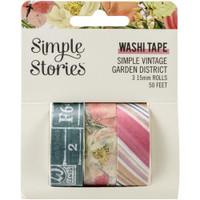Carpe Diem - Simple Stories - Simple Vintage Garden District Washi Tape - Set of 3