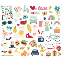 Carpe Diem - Simple Stories - Best Year Ever Bits & Pieces Die-Cuts