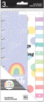 The Happy Planner - Me and My Big Ideas - Skinny Classic Dashboards - Rainbow