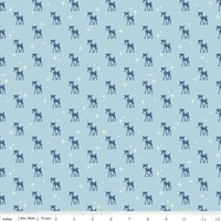Riley Blake Fabric - Cozy Christmas - Lori Holt - Blue #C5364