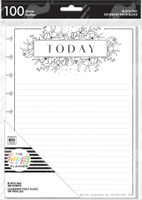 The Happy Planner - Me and My Big Ideas - Classic Block Paper Pad - Black And White Floral
