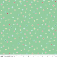 Riley Blake Fabric - Cozy Christmas - Lori Holt - Mint #C5365