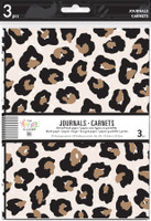 The Happy Planner - Me and My Big Ideas - 3 Pack Journals - Leopard, Black and White