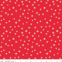 Riley Blake Fabric - Cozy Christmas - Lori Holt - Red #C5365