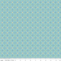 Riley Blake Fabric - Cozy Christmas - Lori Holt - Blue #C5367