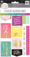 The Happy Planner - Me and My Big Ideas - Stickers Sheets - Gold Star Quotes