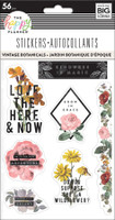 The Happy Planner - Me and My Big Ideas - Sticker Sheets - Vintage Botanical