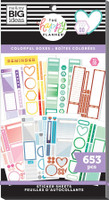 The Happy Planner - Me and My Big Ideas - Value Pack Stickers - Classic Colorful Boxes - Copper Foil (#653)