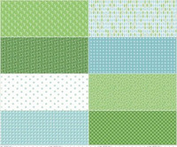 Riley Blake Fabric - Cozy Christmas - Lori Holt - Green #FEP5362