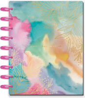 The Happy Planner - Me and My Big Ideas - Classic Happy Planner - Bold Watercolor Make It Happen Today - 18 Months (Dated, Color Block)