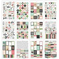 Carpe Diem - Simple Stories - A5 Sticker Book - Bloom