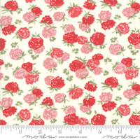 Moda Fabric - At Home - Bonnie & Camille - Cream Red #55203 16