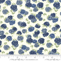 Moda Fabric - At Home - Bonnie & Camille - Cream Indigo #55203 26