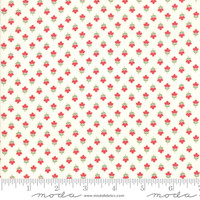 Moda Fabric - At Home - Bonnie & Camille - Cream Red #55207 16