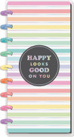The Happy Planner - Me and My Big Ideas - Skinny Classic Happy Planner® - Pastel Rainbow - 12 Months (Dated, Horizontal)