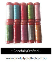 Little Ruby - Aurifil Thread - Set of 10 Aurifil 50 weight thread spools (200 metres each)