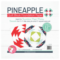 "It's Sew Emma -  Quilt Block Foundation Paper - 12"" Pineapple"