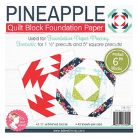 "It's Sew Emma -  Quilt Block Foundation Paper - 6"" Pineapple"
