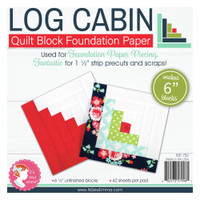 "It's Sew Emma -  Quilt Block Foundation Paper - 6"" Log Cabin"