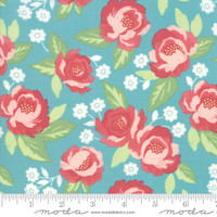 Moda Fabric - Bloomington - Lella Boutique - Teal #5110 16