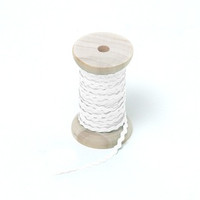 "Riley Blake Designs - 1/8"" Mini Ric Rac - White"
