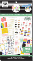 The Happy Planner - Me and My Big Ideas - Value Pack Stickers - Classic - Books Are Magic (#941)